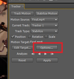 Using motion stabilization in After Effects Part 2 of 2