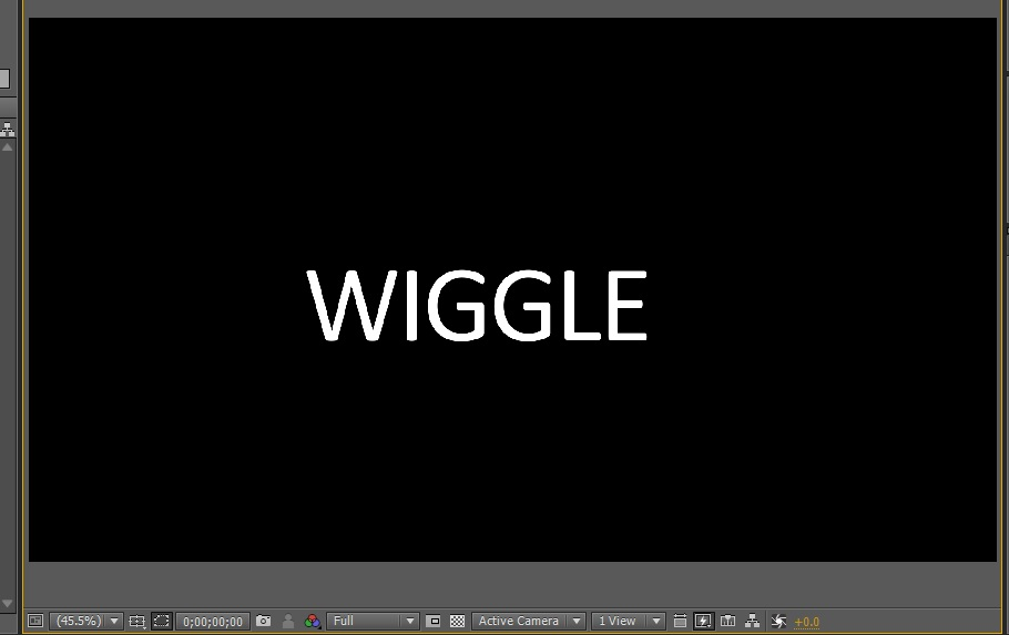 Using a wiggly selector in After Effects